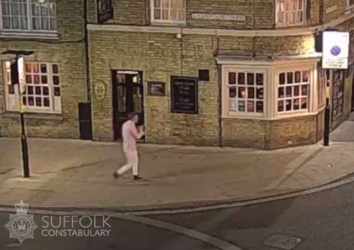 CCTV footage of Corrie McKeague early last Saturday morning ANL-160929-093914001
