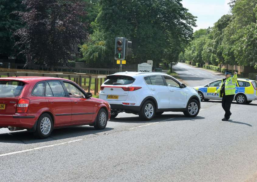 A road crash on the Bury Road, Newmarket has closed the road. ANL-160526-135953001