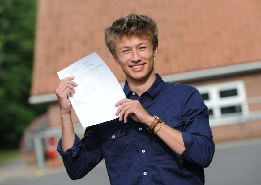 A-Level Results - King Edwards''Pictured: Callum Millar ANL-160818-104947009