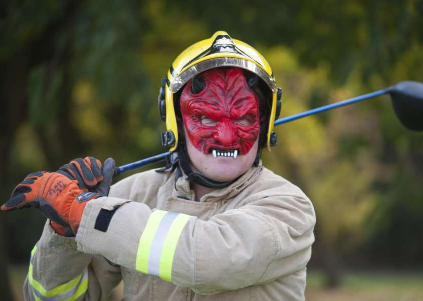 Newton Green Golf Club, Firefighter Andy Message was looking forward to Sudbury Fire Stations Halloween party ANL-151020-201113009