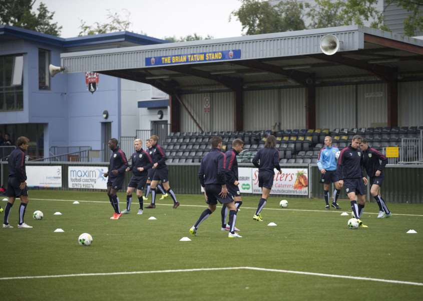 SPECIAL VISITORS: Burnley trained on AFC Sudbury's new 3G pitch on Tuesday ahead of facing Ipswich Town in the Sky Bet Championship. The club hope they will be the first of many professional sides to utilise their facilities