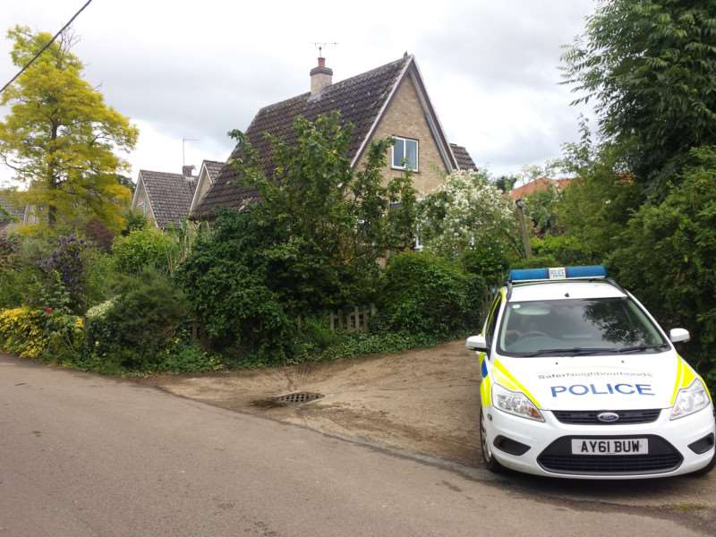 Police are investigating the sudden death of a 70-year-old woman in Rattlesden
