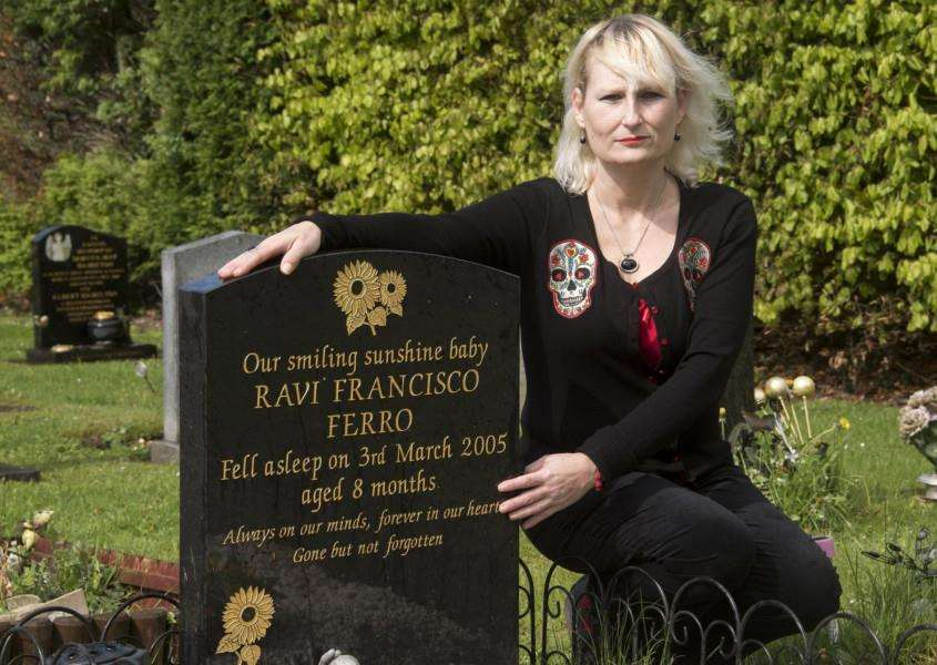 Maria Stewart, who is fighting a reinforcement of cemetery rules. Picture Mark Westley