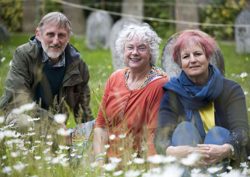 Mark Westley Photography'Wildlife garden at Quaker Meeting House in St John's Street.'Pam and Graham Gosling with Edwina Hughes in the garden. ANL-150906-221845009