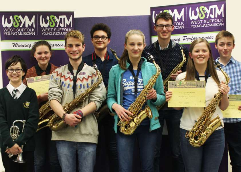 Competitors from the heat for the West Suffolk Young Jazz Musician competition ANL-161202-160127001