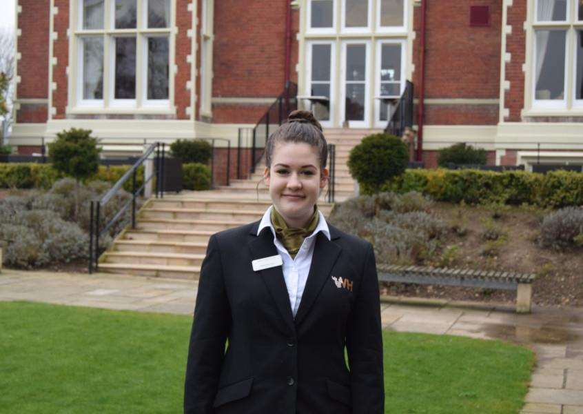 Madeleine Sears who has been awarded a �3,000 scholarship by Jurys Inn Hotels to study hotel management and hospitality at the Edge Hotel School in Colchester