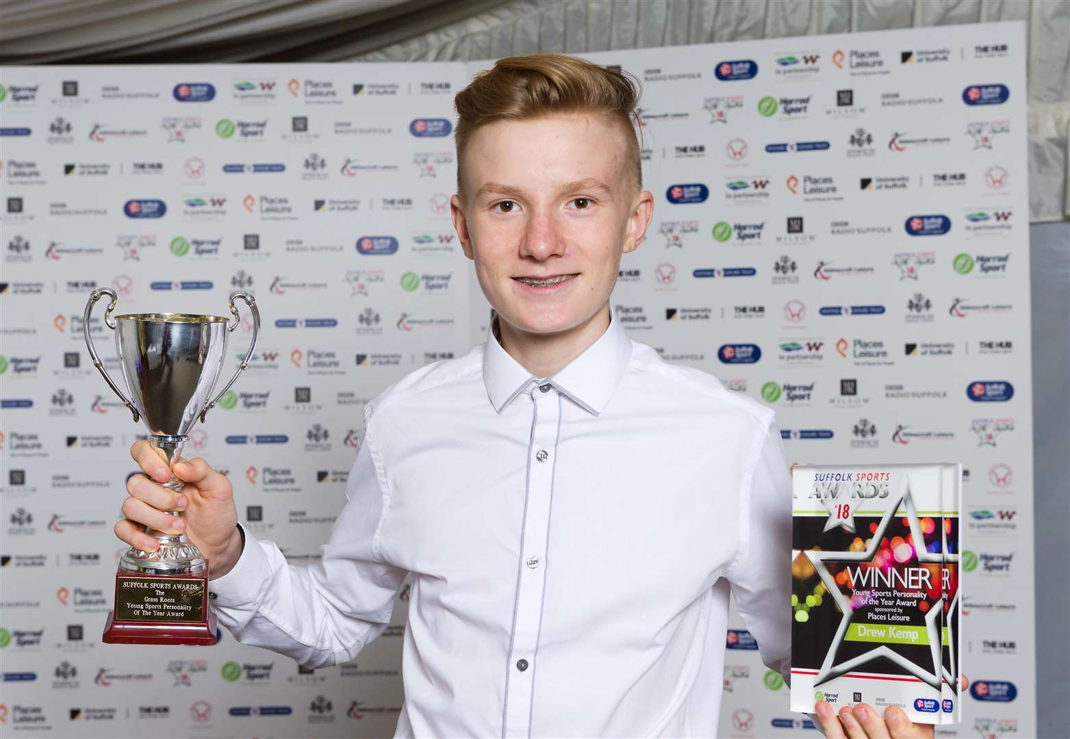 Drew Kemp won Young Personality of the Year award at Suffolk Sports Awards 2018/19 (5565068)