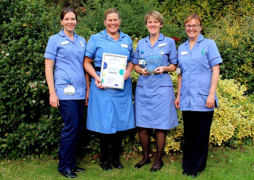 The diabetes inpatient specialist nurses at West Suffolk NHS Foundation Trust were awarded for their campaign on National Hypo Awareness Week. Pictured: (from left to right) Clare Porter-Brown, Caroline Beecroft, Maxine Shipp and Dawn Southgate