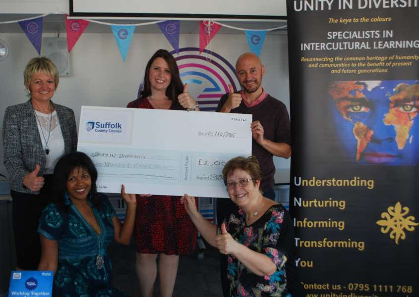 Unity in Diversity received �2,000 ANL-150510-121740001