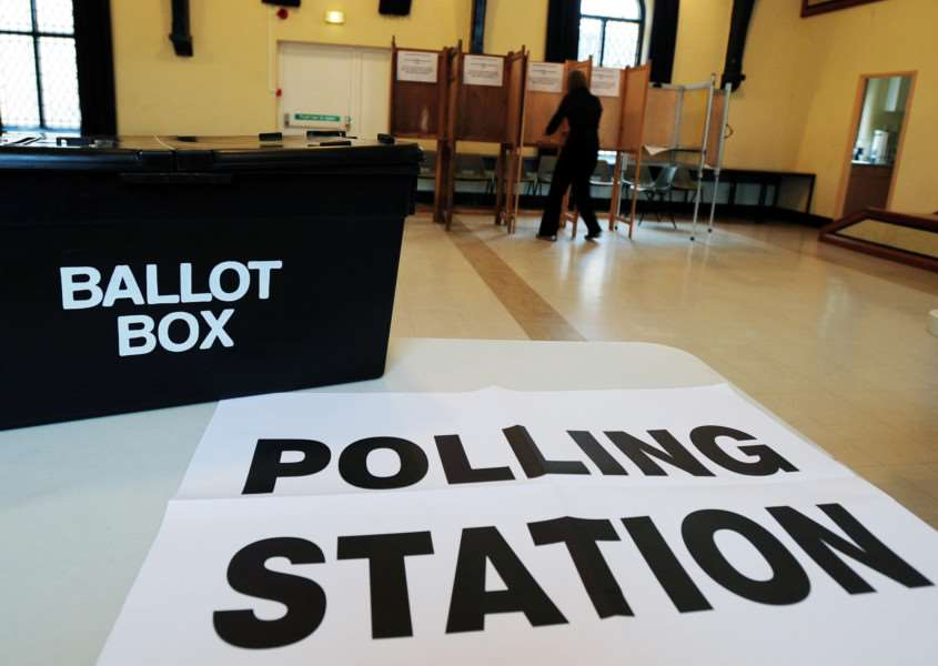 The scene at a polling station