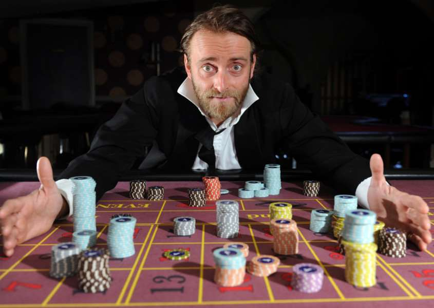 Tim FitzHigham, star of his one-man standup show 'The Gambler. Picture by JANE BARLOW ANL-160215-130439001