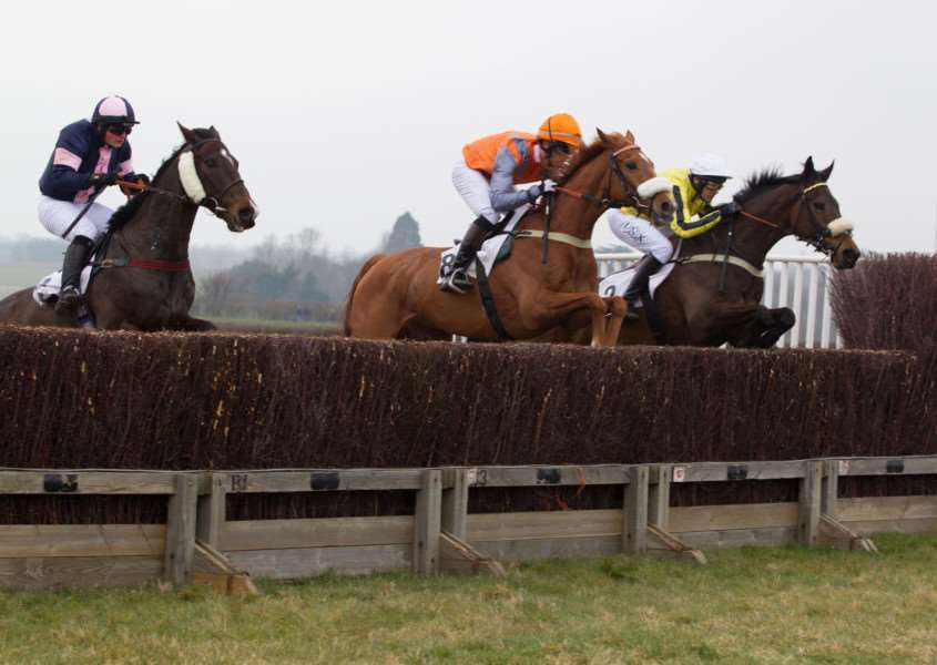 GOING CLEAR: Action from the Novice Riders' Race at High Easter. Picture: Richard Weller-Pooley