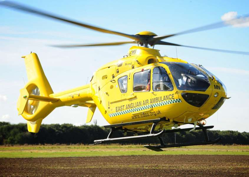 The East Anglian Air Ambulance. Photo: Alan Storer
