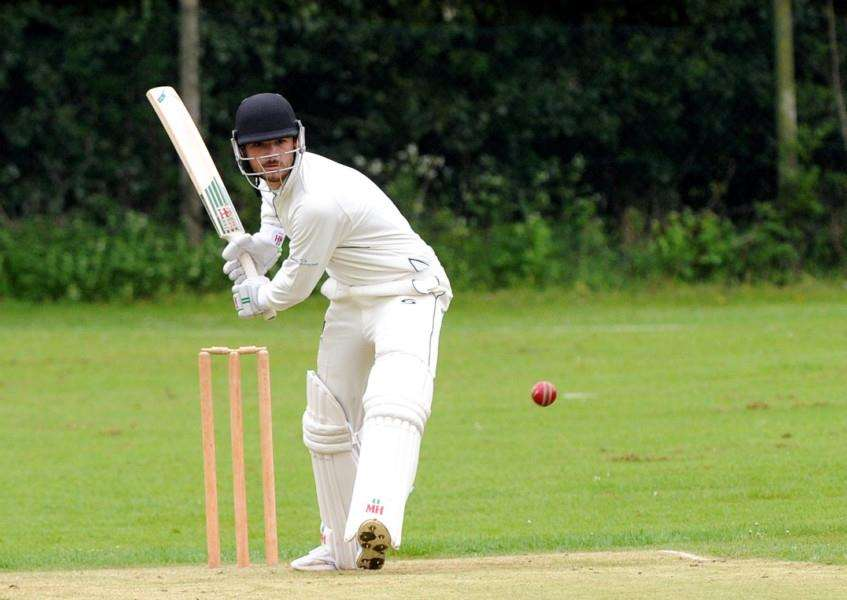 BEST SCORE: Anthony Phillips was clean bowled by Kemsley Robb just nine runs short of a century. Picture: Mecha Morton