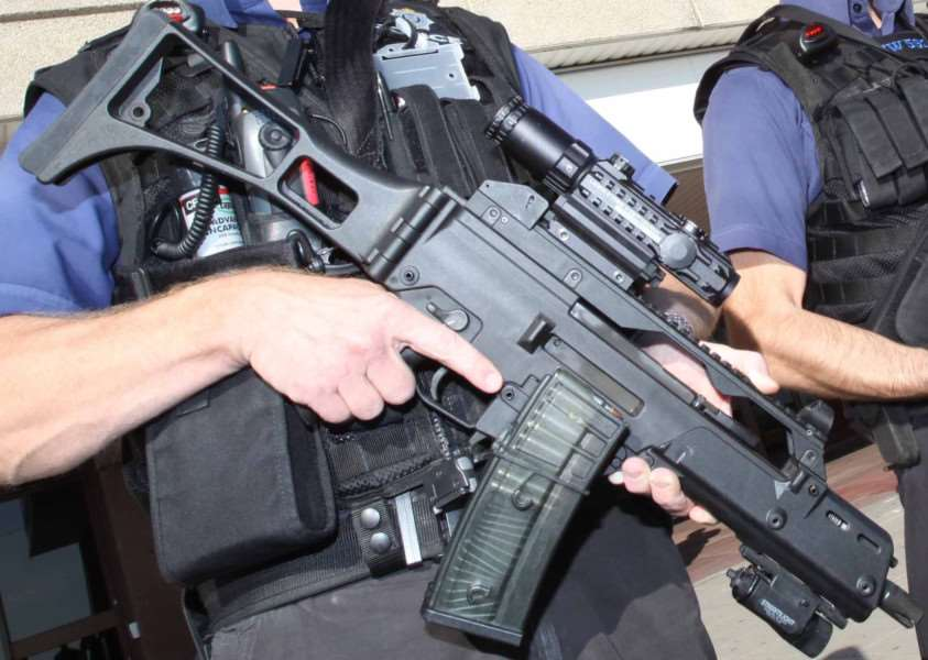 Armed Police. Stock photo