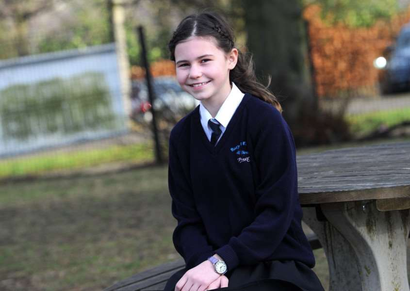 Isla Cockerton, a pupil at Horringer Court School, got 100% in her SATs Maths PICTURE: Mecha Morton