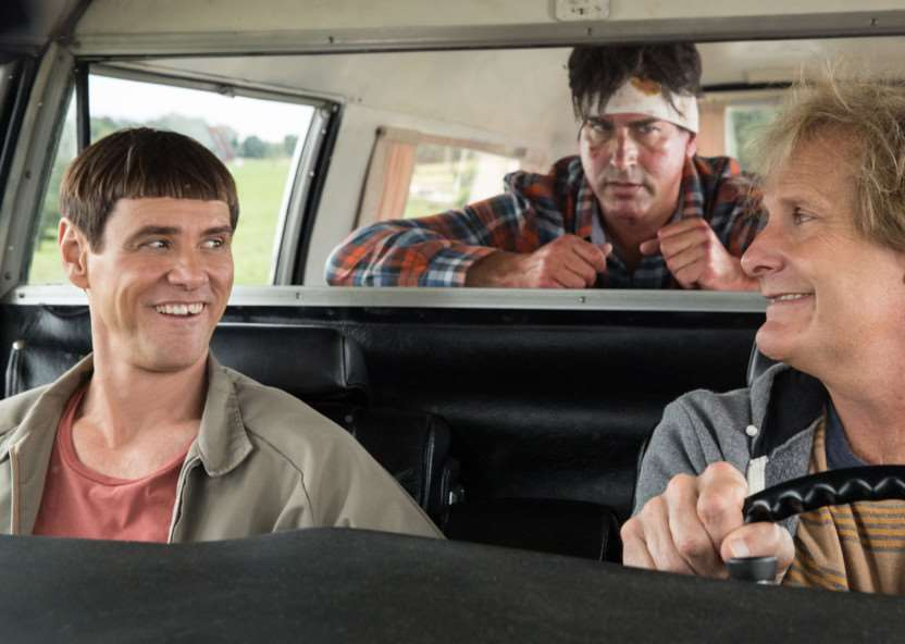 Jim Carrey and Jeff Daniels in Dumb And Dumber To. Picture: PA Photo/Handout/Universal Pictures ANL-141219-113059001