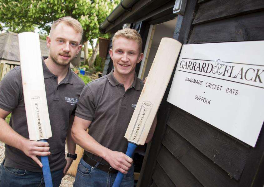Liam Flack and Ed Garrard have formed their own company, Garrard and Flack, making bespoke cricket bats