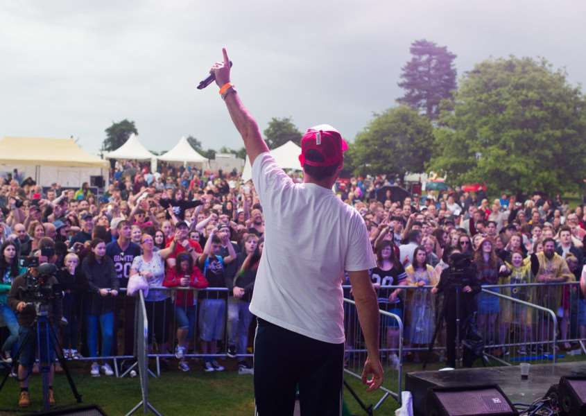 Goldie Lookin Chain took to the stage at LeeStock on Sunday evening.