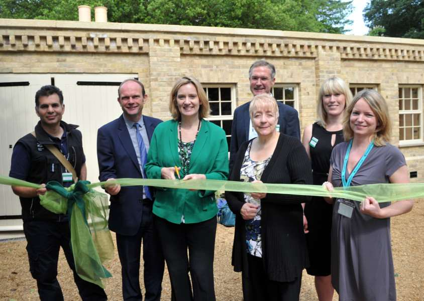 Government Minister, Amber Rudd, visited Ickworth to launch its new biomass boiler