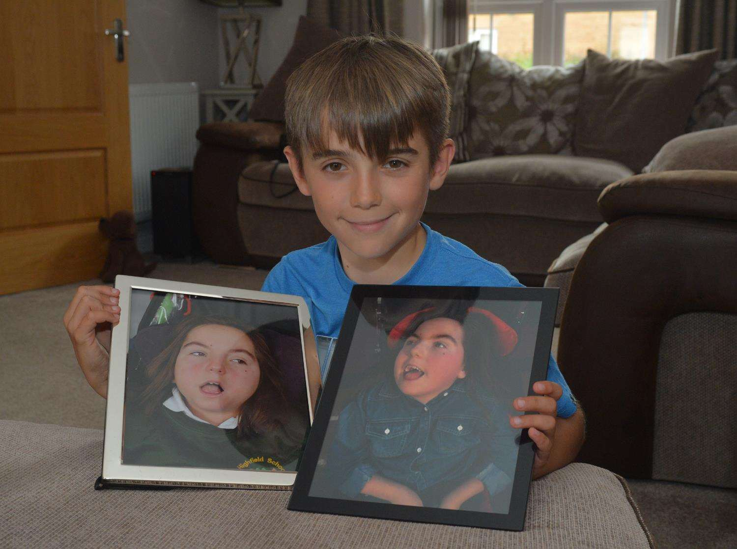 Liam Johnson, who is raising money for East Anglia's Children's Hospices in memory of his twin sister Lucy