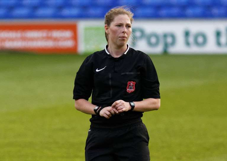 WEMBLEY OCCASION: Abi Marriott