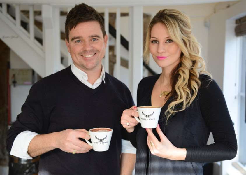 New business partnership - Scott Russell of Paddy & Scott's, and Rachel Ducker.