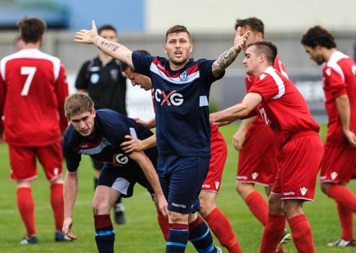 Gav Taylor scored Haverhill Borough's equaliser in their 2-1 win over Downham Town