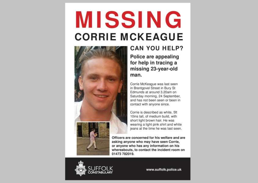 Suffolk Police's Corrie McKeague poster ANL-160710-105523001