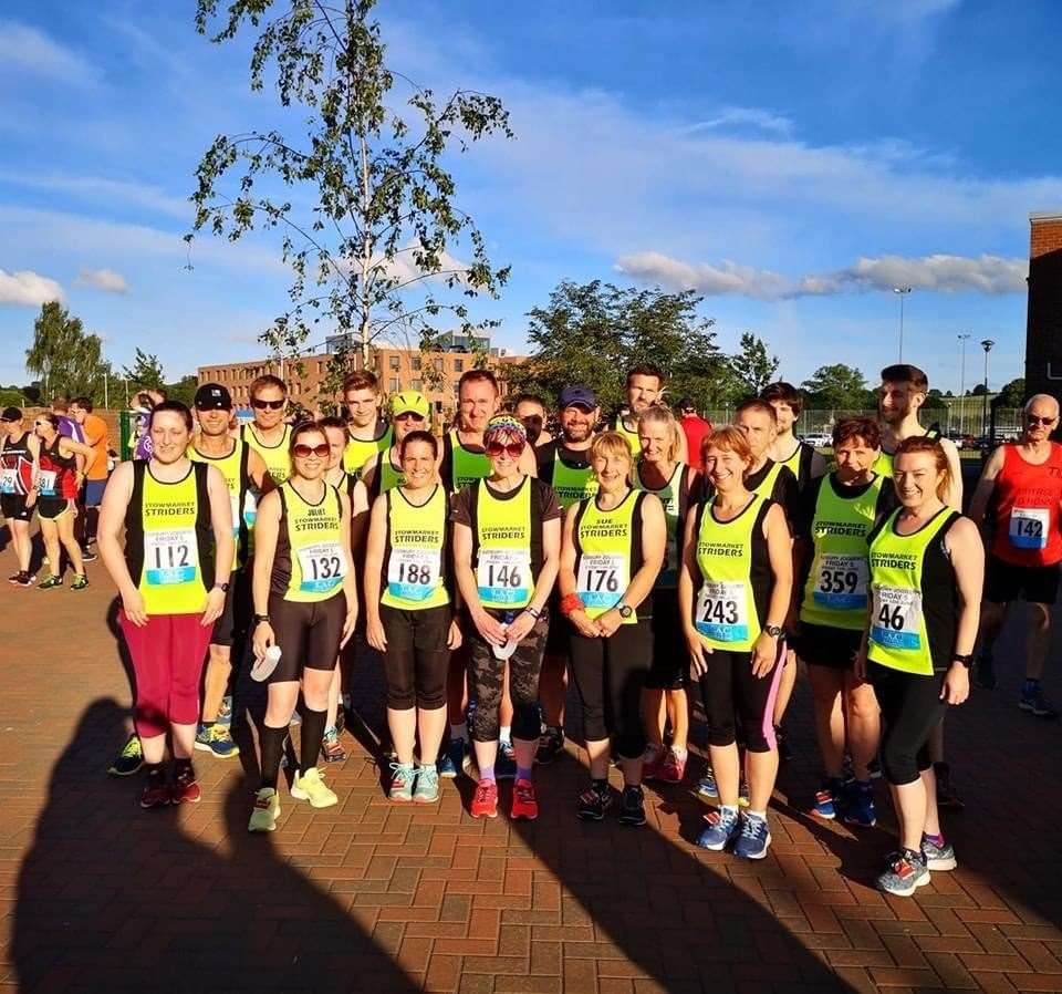 Stowmarket Striders, pictured at a Friday 5 event last year, have been named Club of the Year East at the England Athletics Regional Volunteer Awards 2020