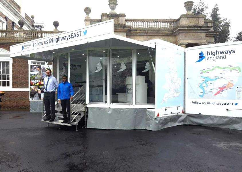 Highways East's mobile exhibition