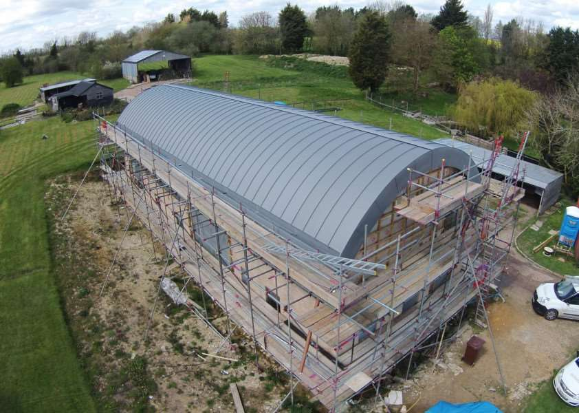 ELC Roofing - zinc roof on home near Clare ANL-160524-125321001
