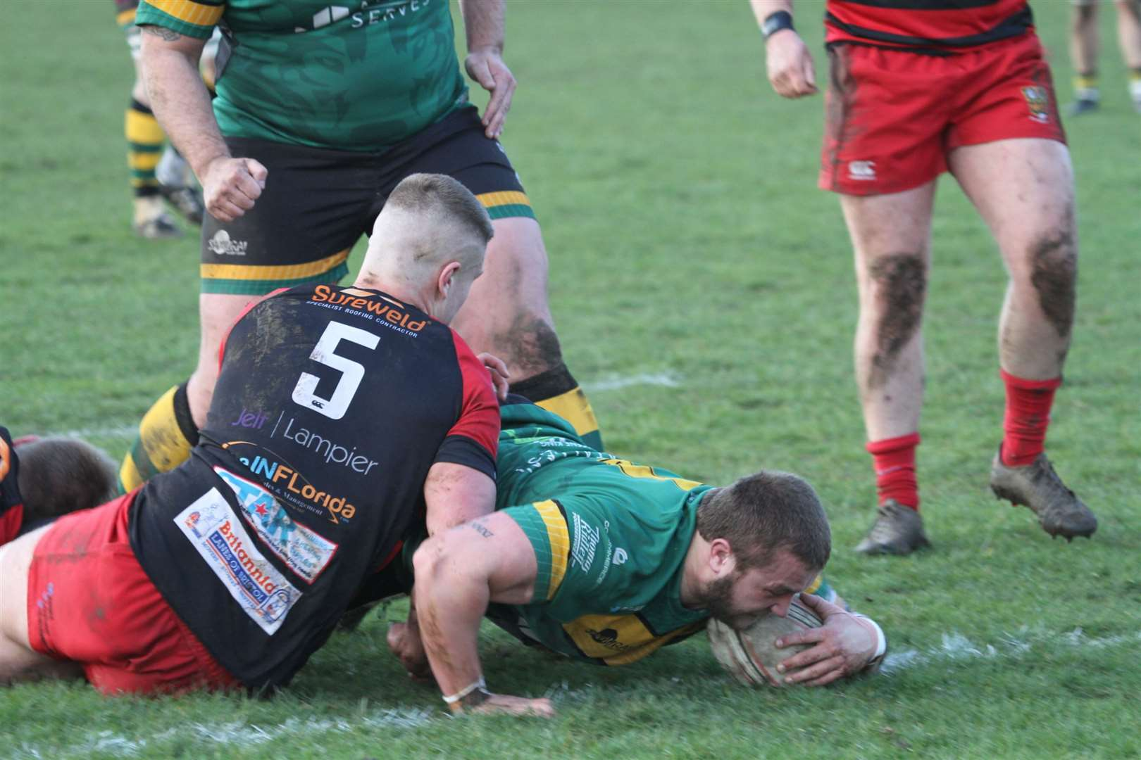 Toby Hill for Bury Rugby as they beat Old Redcliffians 66-22 at home Feb 2020. Picture: Shawn Pearce (30585163)
