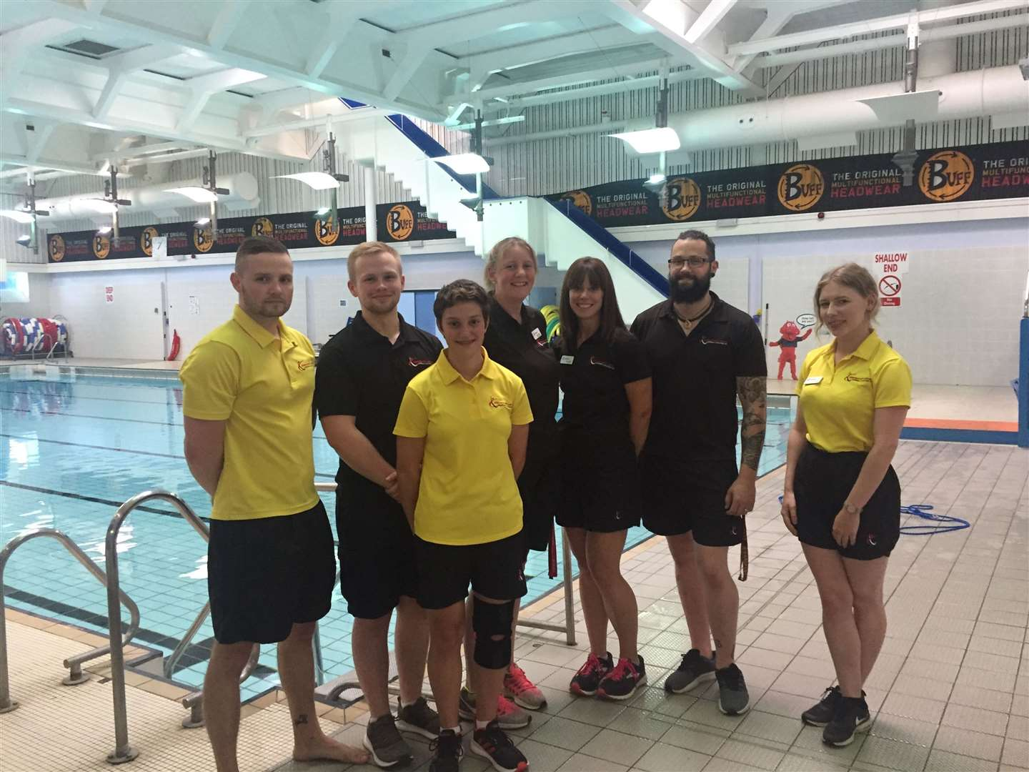 Staff from Abbeycroft Leisure.