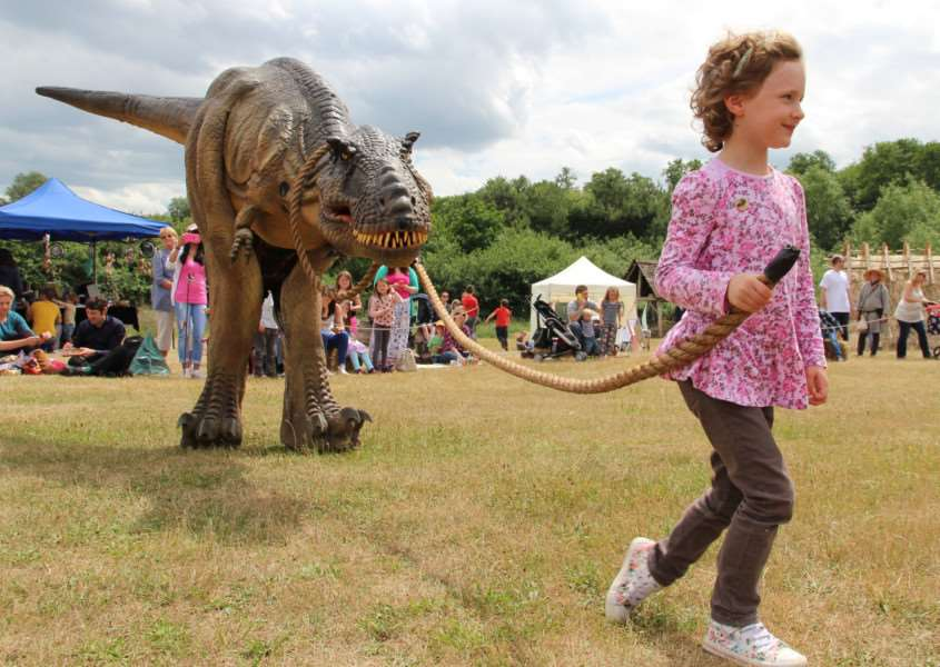 T-Rex at West Stow Dragon Festival ANL-150622-110846001