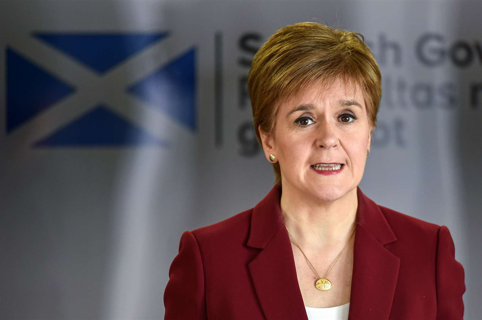 First Minister Nicola Sturgeon speaking at a coronavirus briefing (Jeff J Mitchell/PA)