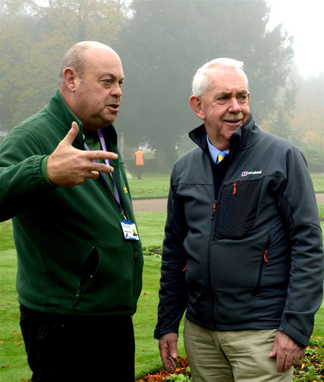 New co-ordinator of Bury in Bloom David Irvine in the Abbey Gardens with manager Adrian Hall. Picture: Andy Abbott