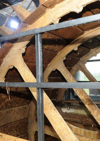 Recently restored water wheel at the Mill Hotel in Sudbury. ANL-160102-165004009