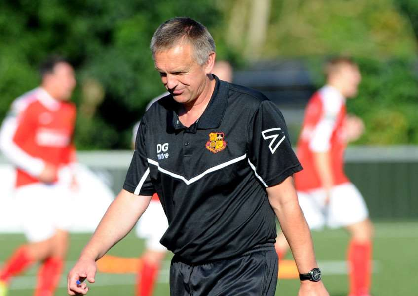 LOOKING GOOD: Dean Greygoose is pleased that his Mildenhall Town players are returning from injury