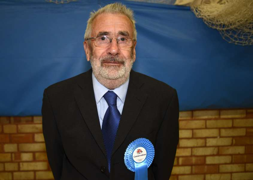Former councillor David Bimson pictured last year at the district council election count