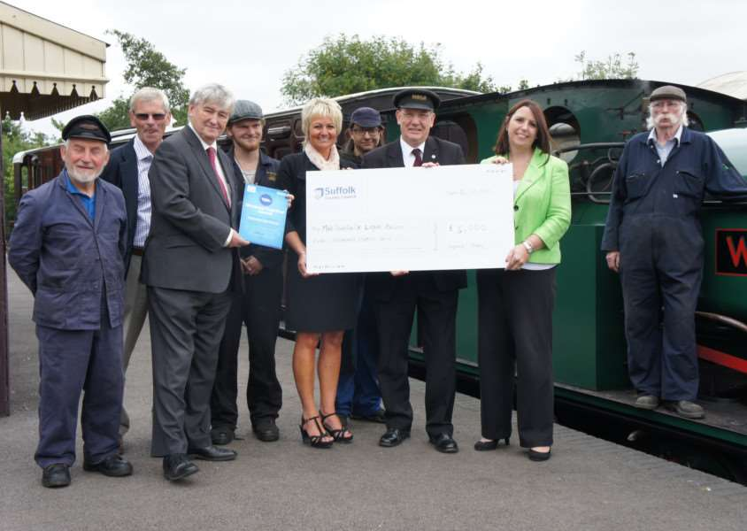 Mid Suffolk Light Railway Museum received �5,000 ANL-150510-121651001