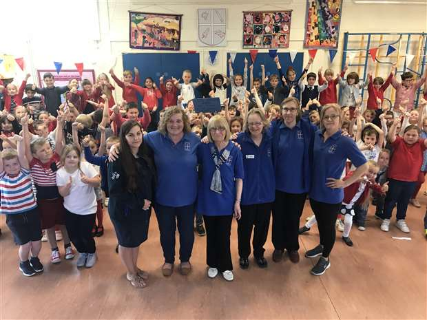 46dcc7aaf Alma Wright celebrated 50 years of working as a dinner lady at Barrow CEVC  Primary School