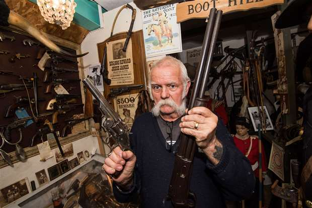 See inside the military museum in Rod Scott's garden with 1,200 guns