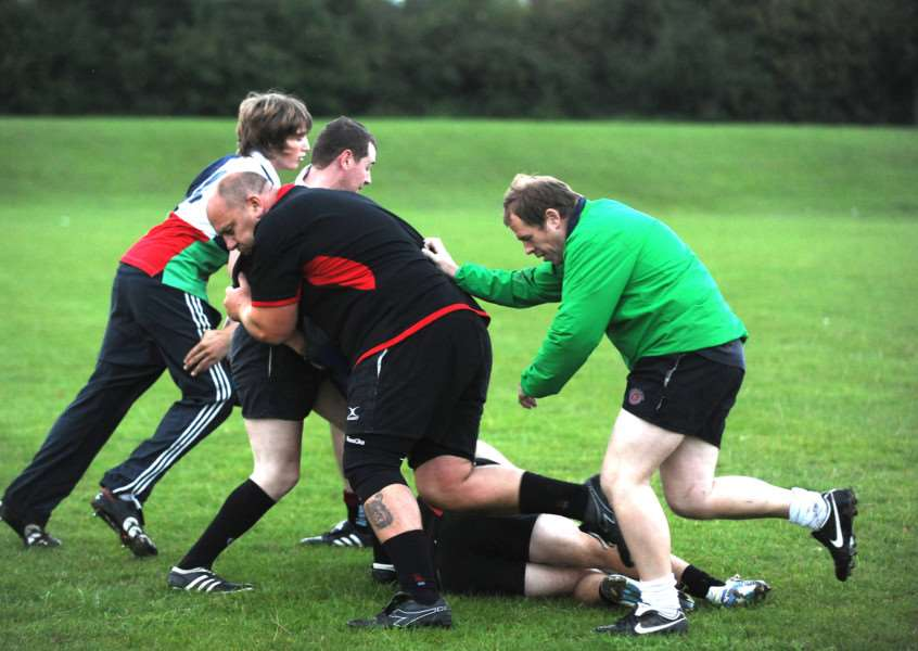 TRAINING: Haverhill & District RFC have been working hard in pre-season and have high hopes for the season