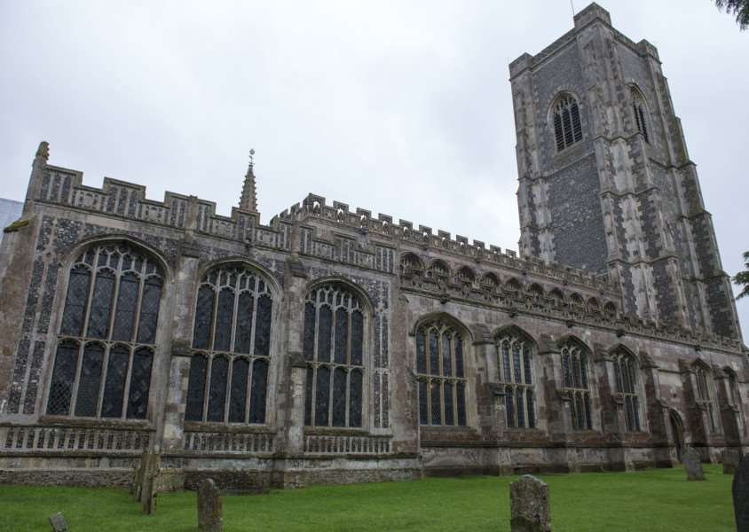 Lavenham Church St Peter and St Paul, has has lead stolen from their north roof, cleaning up water damage, Revd Stephen Earl Rector and Rural Dean.'Picture Mark Westley ANL-150826-115229009