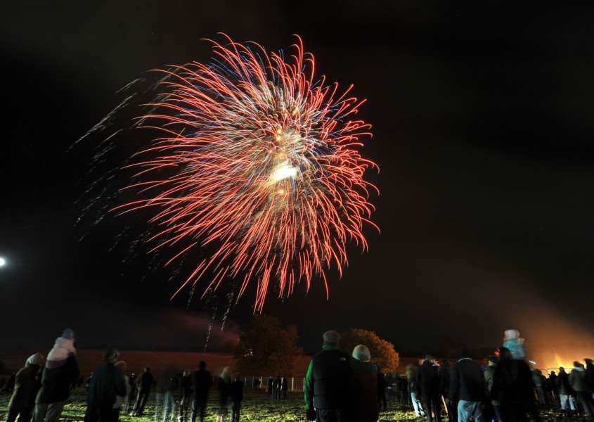 Long Melford's Big Night Out firework display and bonfire. ENGANL00120120411220755