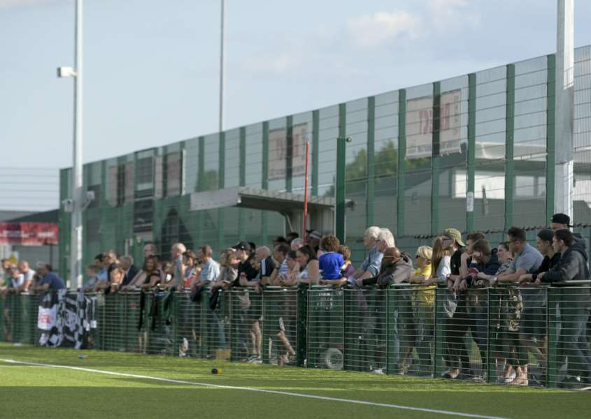THE NEW CROFT: The player allegedly exposed himself to the crowd watching the game on Borough's 3D pitch