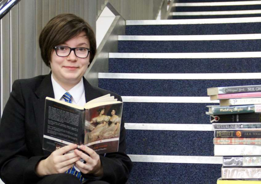 Daisy Houlden was the first Thomas Gainsborough School pupil to read all 50 of the school's Top 50 book challenge.