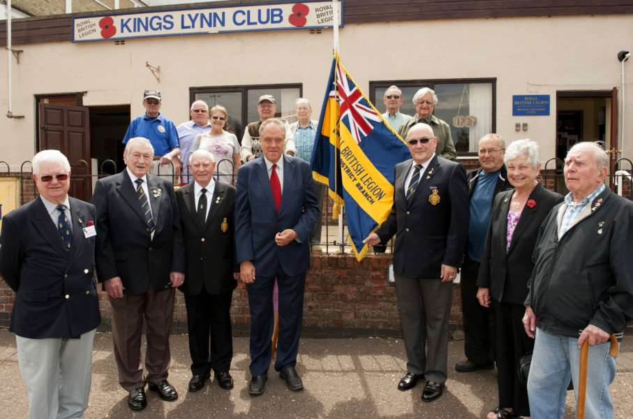 Richard Howitt MEP meeting Veterans Royal British Legion King's Lynn. ANL-150626-124915009