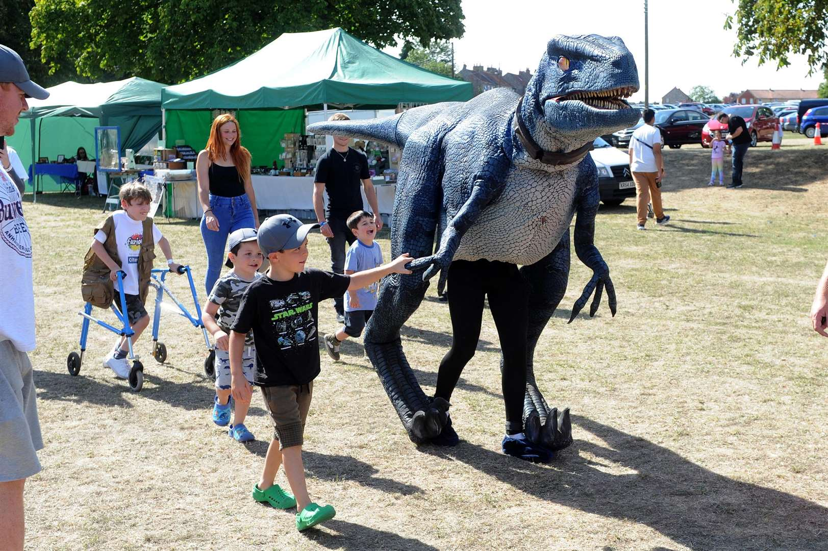 Visitors got the chance to get up close to dinosaurs during the day PICTURE: Mecha Morton
